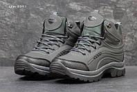 Чоловічі зимові черевики Ecco сірі (3397)