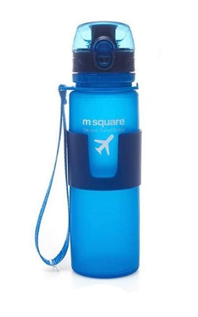 Силіконова пляшка для води 500 мл (синій)