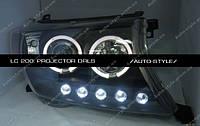 Альтернативная оптика Toyota Land Cruiser 200  черная тюнинг-оптика