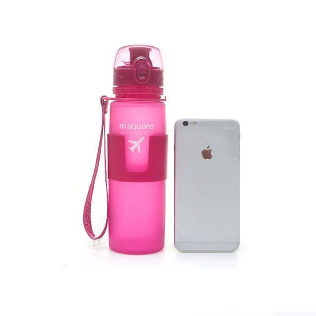 Силиконовая бутылка для воды с телефоном