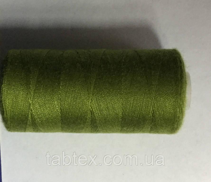 Нитка швейная 40/2 400ярд. D 186 оливка.