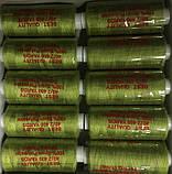 Нитка швейная 40/2 400ярд. D 186 оливка., фото 2