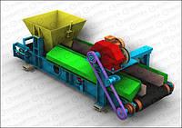 Ленточный транспортер дозатор непрерывного потокового типа