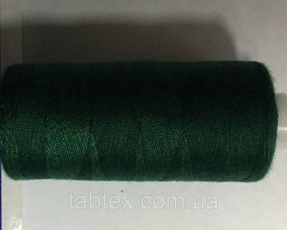 Нитка швейная 40/2 400ярд. D 225 т. зелёный.