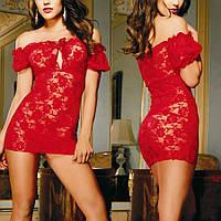 Женское эротическое белье (в комплекте стринги), нижнее сексуальное, красный пеньюар, платье 11130с-в