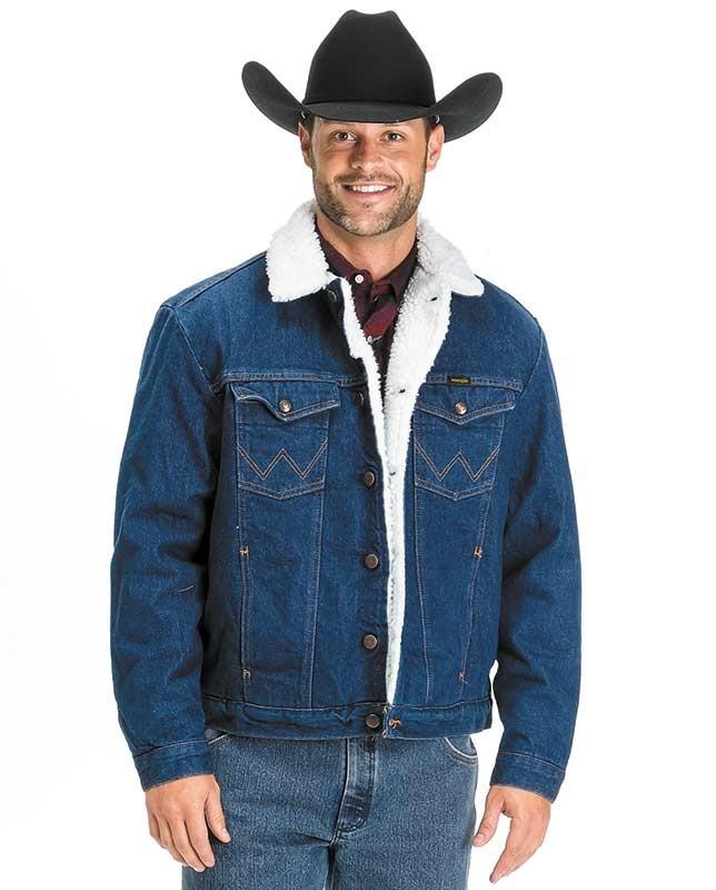 Джинсова чоловіча куртка з хутром Wrangler® р. 2ХЛ