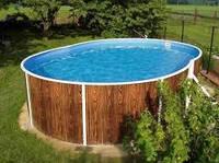 Каркасный бассейн овальный морозоустойчивый Azuro 404DL 5,5  х 3,7 х1,2 м