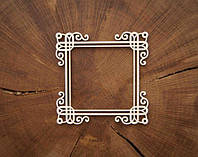 Чипборд Рамка квадратная с завитками