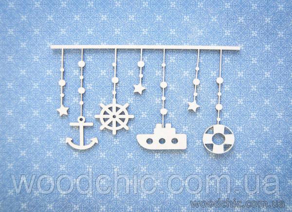 Чипборд Подвеска детская морская