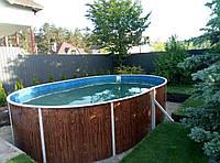 Каркасный бассейн овальный морозоустойчивый Azuro 404DL 5,5  х 3,7 х 1,2 м (21 м3)