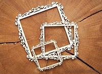 Чипборд Рамка квадратная средняя  5,8 на 5,8 см.