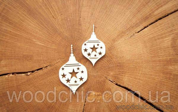 """Чипборд """"Новогодняя игрушка на елку большая 3"""""""