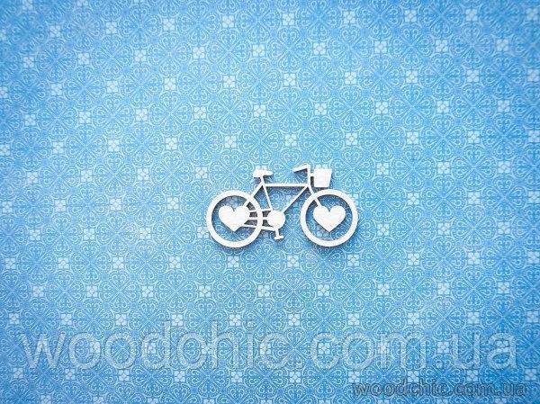 "Чипборд Велосипед ""сердечки"""