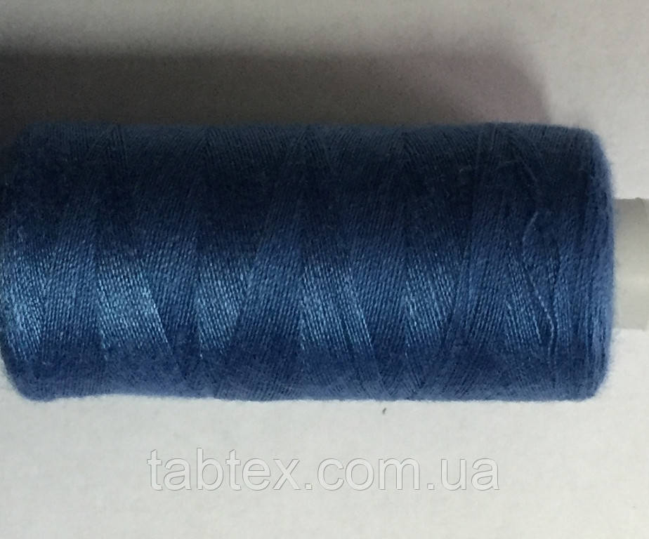 Нитка швейная 40/2 400ярд. D 313 голубой.