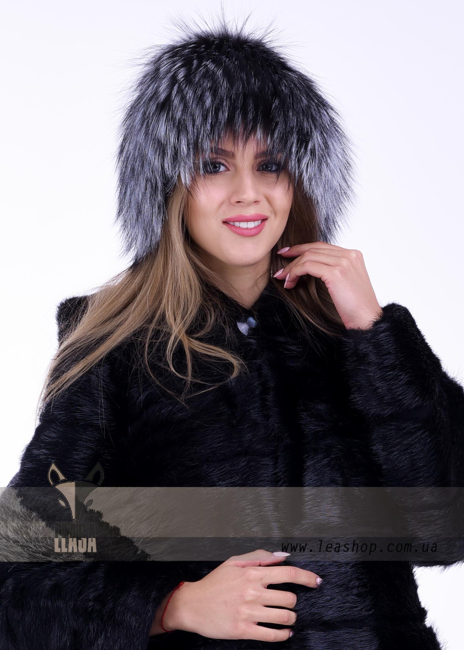 Роскошная женская меховая шапка из блуфроста (bluefrost)