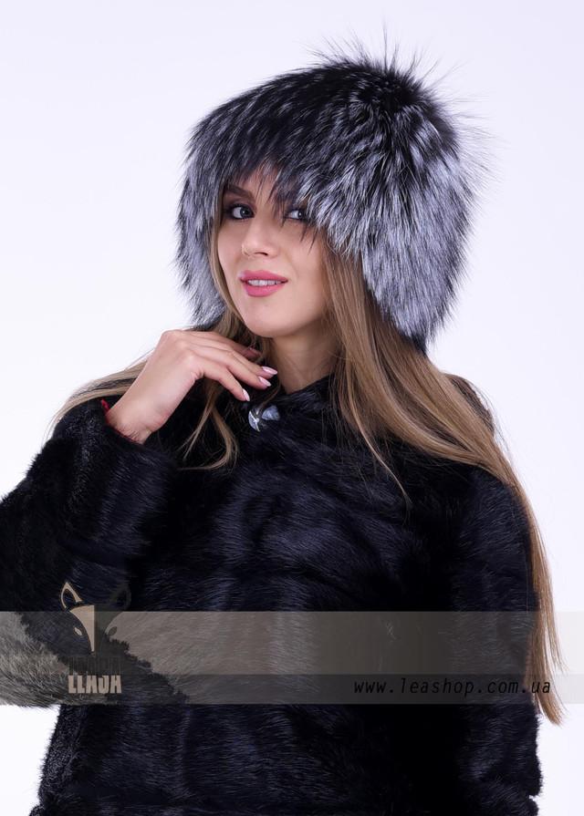 Женская меховая шапка из блуфроста (bluefrost)
