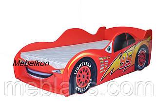 Кроватка машина Молния Маквин красная Mebelkon, фото 2