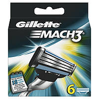 Gillette Mach3 лезвия для бритья, 6 шт.