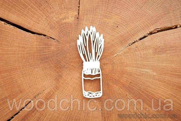Чипборд Весенняя листва в баночке 1