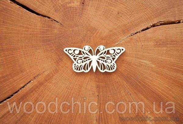 Чипборд Метелик з завитками