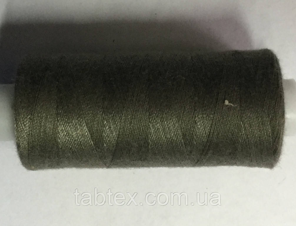 Нитка швейная 40/2 400ярд. D 330 серо зелёный.