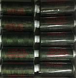 Швейна Нитка 40/2 400ярд. 335 D т. зелений., фото 2