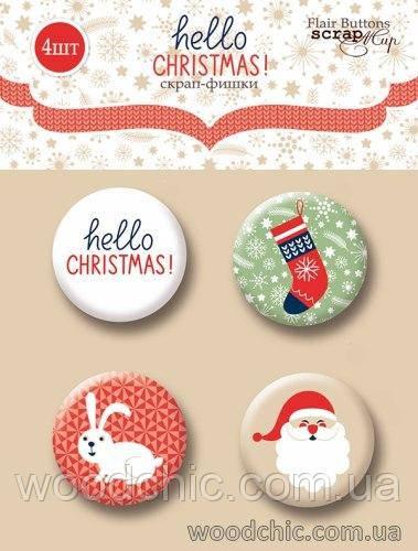 "Набор Фишки для скрапбукинга ""Hello Christmas"""