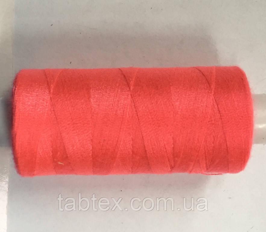 Нитка швейная 40/2 400ярд. D 350 розовый неон.