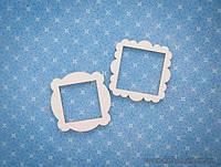 Набор Чипборд рамки квадратные волнистые