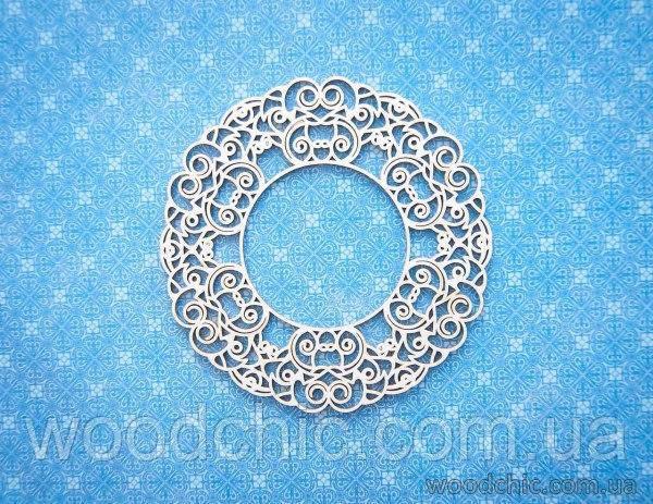 Чипборд рамка круглая узорчатая