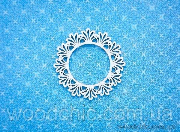 Чипборд рамка круглая королевский цветок