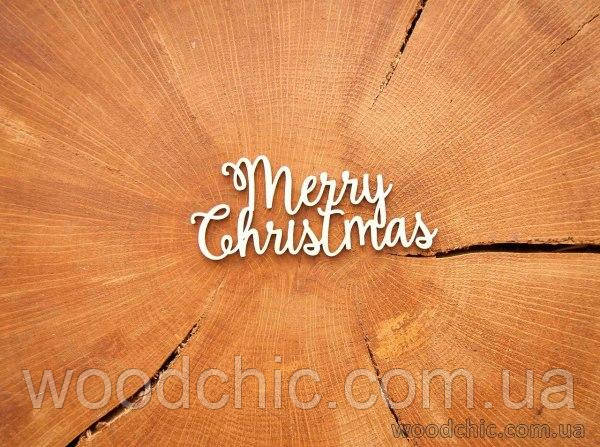 "Чипборд ""Merry Christmas"" большая"