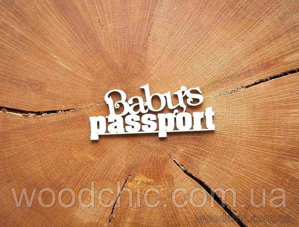 "Чипборд ""Baby's passport"""