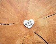 "Чипборд ""Сердце под вышивку"" мал сердце"
