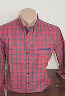 Мужская рубашка RedPolo клетка, кашимир,  длинный рукав