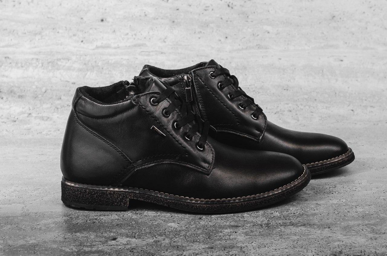 Мужские Классические ботинки Yuves (черные), ТОП-реплика