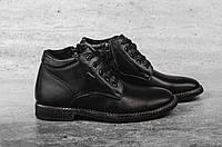 Мужские Классические ботинки Yuves (черные), ТОП-реплика , фото 1