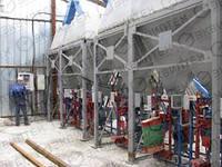 Линия разгрузки и фасовки цемента 80 т/час