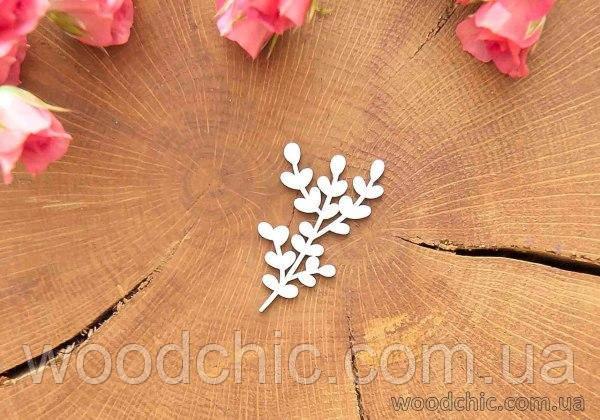 Чипборд Ветка с листиками