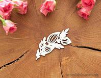 Чипборд Экзотический цветок