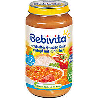 Bebivita  Menü Herzhafter Gemüse-Reis-Eintopf mit Hühnchen - Овощное рагу с курицей от 12 месяцев 250 г