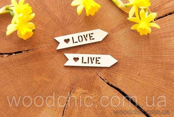 """Чипборд """"Love / Live"""""""