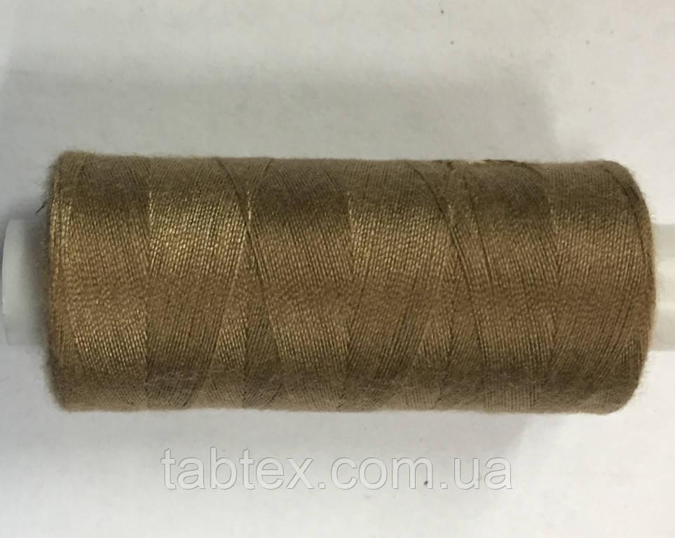 Нитка швейная 40/2 400ярд. D 391 св.коричневый.
