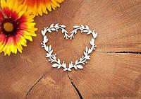 Чипборд Сердце с ветвями