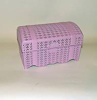 Сундучок ажурный шкатулка 19х12х12см, фото 1