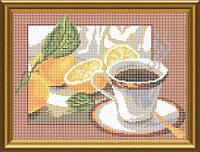"""Схема для повної вишивки бісером """" Чай з лимоном"""" СКМ-41"""