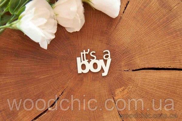 """Чипборд """"It's a boy"""""""