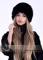 Черная шапка из норвежского песца