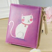 Женский кошелек котик розовый, фото 1