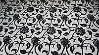 Рогожка флок Цветок черный обивочная ткань для мебели